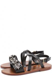 Кожаные сандалии с кристаллами Marni