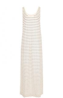 Хлопковое платье-макси в полоску By Malene Birger
