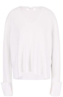 Пуловер свободного кроя с V-образным вырезом Helmut Lang