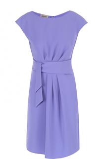 Мини-платье с драпировкой и поясом Armani Collezioni