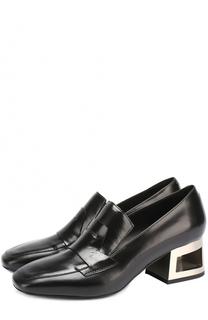 Кожаные туфли на фигурном каблуке Vic Matie