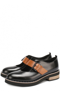 Кожаные ботинки с заклепками на ранте Vic Matie