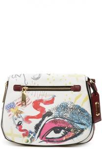 Кожаная сумка с ярким принтом Marc by Marc Jacobs