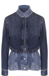 Приталенное джинсовая куртка с потертостями Alexander McQueen