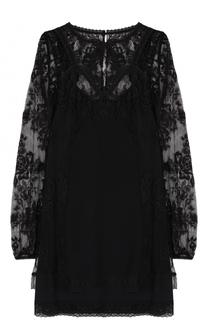Кружевное мини-платье прямого кроя MCQ
