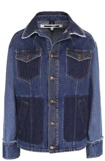 Джинсовая куртка прямого кроя с потертостями MCQ