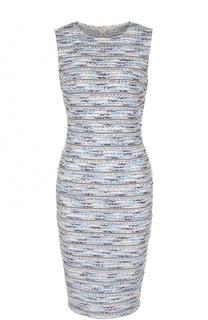Буклированное платье-футляр без рукавов St. John