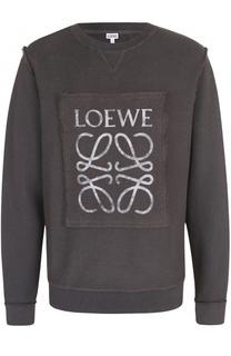 Хлопковый свитшот с декоративной отделкой Loewe
