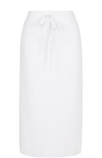 Вязаная юбка с эластичным поясом и разрезами DKNY