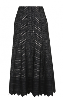 Кружевная юбка-миди с фестонами Alexander McQueen