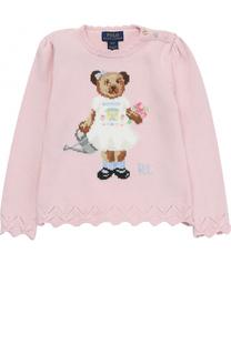 Пуловер с принтом и фактурной отделкой Polo Ralph Lauren