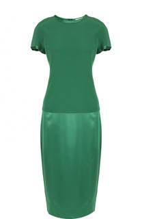 Платье прямого кроя с коротким рукавом DKNY