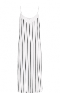 Шелковое платье-комбинация в полоску Equipment
