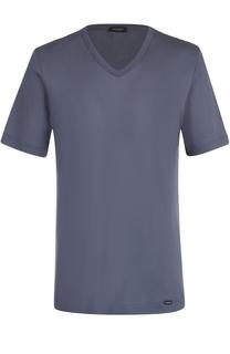 Хлопковая футболка с V-образным вырезом Hanro