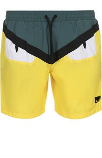 Плавки-шорты с отделкой Bag Bugs Fendi