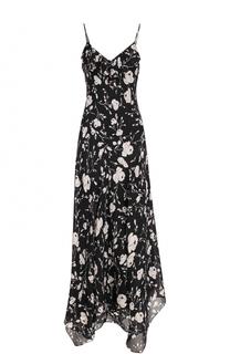 Шелковое платье-макси с цветочным принтом Polo Ralph Lauren