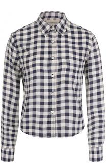 Укороченная блуза прямого кроя в клетку Denim&Supply by Ralph Lauren