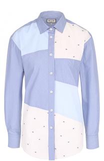 Хлопковая блуза прямого кроя Paul&Joe Paul&Joe