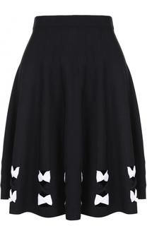 Мини-юбка с контрастной отделкой Alexander McQueen