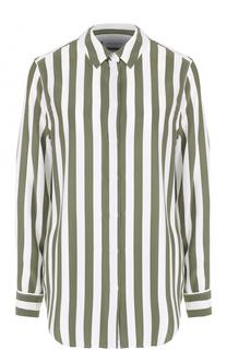 Шелковая блуза прямого кроя в полоску Equipment