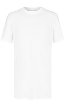 Удлиненная хлопковая футболка с круглым вырезом 11 by Boris Bidjan Saberi