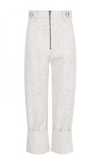 Укороченные хлопковые брюки с завышенной талией Isabel Marant