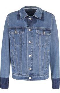 Джинсовая куртка с контрастной отделкой Kenzo
