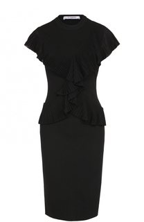 Вязаное платье-футляр с оборкой Givenchy