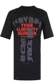 Удлиненная хлопковая футболка с принтом 11 by Boris Bidjan Saberi