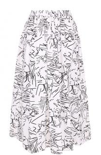 Хлопковая юбка-миди с принтом Kenzo