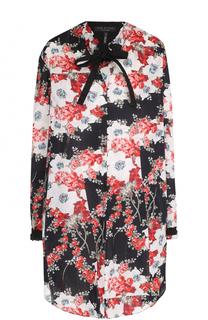Мини-платье свободного кроя с цветочным принтом Rag&Bone Rag&Bone