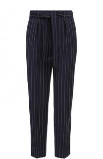 Укороченные брюки в полоску с поясом Polo Ralph Lauren