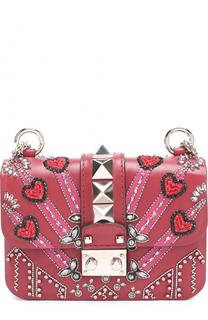 Сумка Glam Lock Loveblade mini с кристаллами Valentino