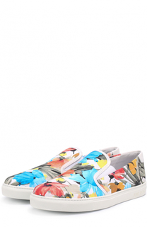 Текстильные слипоны с принтом Jog Dog