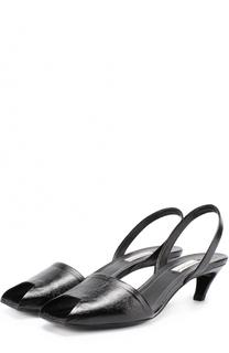 Кожаные босоножки с геометричным вырезом Balenciaga