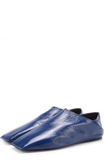 Кожаные слиперы с плоским мысом Balenciaga