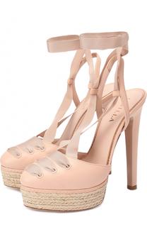 Кожаные босоножки на шнуровке Le Silla