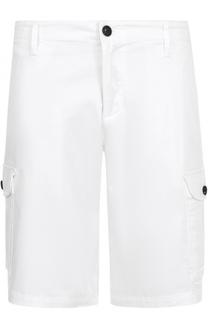 Хлопковые шорты с накладными карманами Armani Jeans