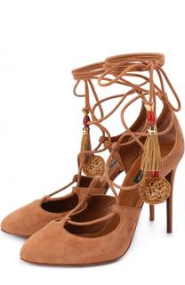 Замшевые туфли Coco с подвесками Dolce & Gabbana