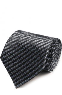 Шелковый галстук с узором Ermenegildo Zegna