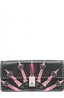 Клатч Loveblade с аппликациями Valentino