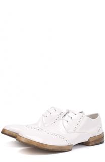 Лаковые ботинки с перфорацией Marsell