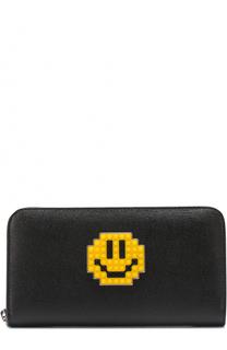 Кожаное портмоне с декором на молнии Les petits joueurs