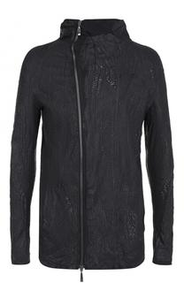 Хлопковая куртка с косой молнией Masnada