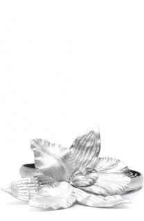 Кожаный ремень с пряжкой в виде цветка Dries Van Noten
