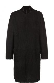 Кожаное пальто с воротником-стойкой Giorgio Brato