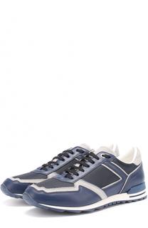 Комбинированные кроссовки на шнуровке с камуфляжным принтом Canali