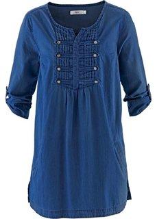 Блузка (синий «потертый») Bonprix