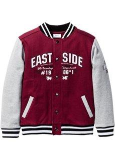 Колледжская куртка, Размеры 116/122-164/170 (бордовый/светло-серый меланж) Bonprix