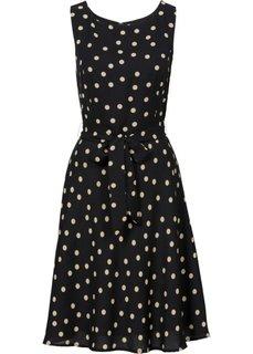Платье (черный/капучино в горошек) Bonprix